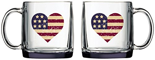 Luminarc Arc International Americana Heart Nordic Mug (Set of 6), 13 oz, Clear