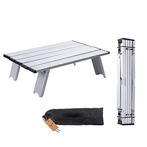 Tavolino Pieghevole Pieghevole Pieghevole in Lega di Alluminio Leggero e Pratico Tavolo Small per Campeggio, Picnic, Viaggi, Spiaggia
