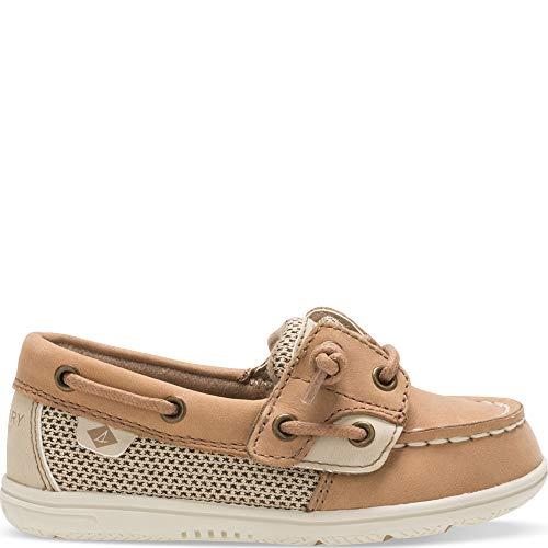 Sperry baby girls Shoresider Jr Crib Shoe, Linen/Oat, 12 Little Kid US