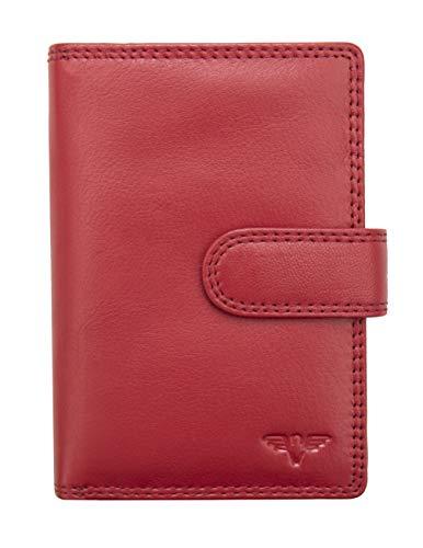 Women's Nevaeh Large Leather Purse Wallet RFID Blocking (Red)