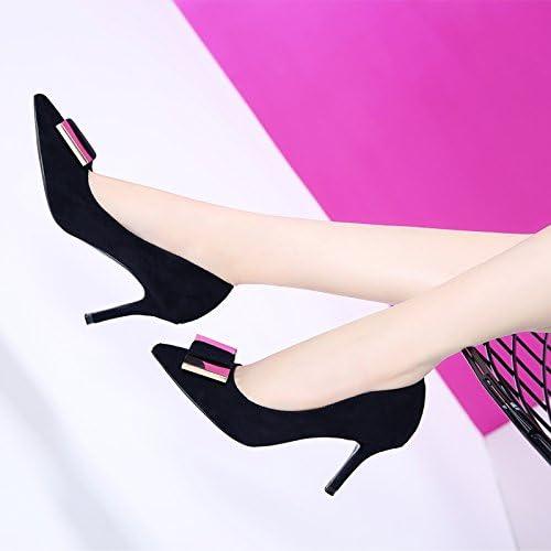 MDRW-Lady Elegante Trabajo Ocio Muelle La Punta De La Hebilla Lateral Metálica 8Cm High-Heeled Carrera Salvaje zapatos zapatos De mujer Los zapatos Bien Con Solo zapatos