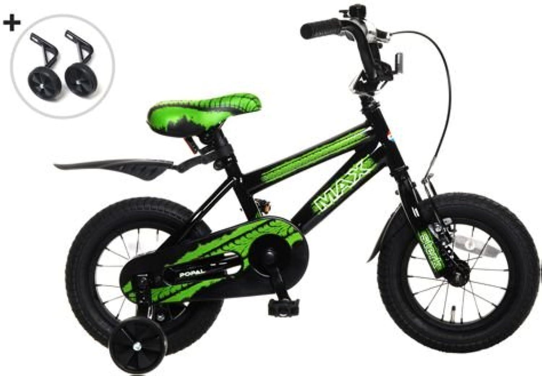 Plezier Jungenfahrrad BMX 12 Zoll Max grün