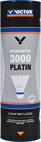 VICTOR Ball Shuttle 3000-Schnell Badminton-nylonball, WEiß, 6er Dose