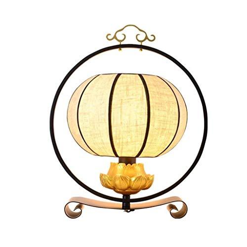 ZLMAY China Lámpara de Mesa de Noche Retro Dormitorio de...