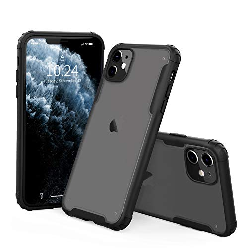 I STRIVE Compatible with iPhone 11 Case - Shock/Shatterproof - Phone Armor - Scratch Resistant - Lightweight - Wireless Charging - Slim Protective - Hybrid Materials - Matte Black