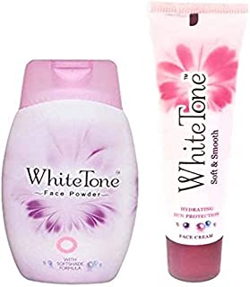 White Tone Face powder and face cream combo (30g+25g)(55 g)