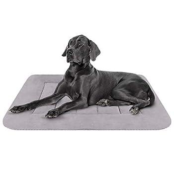 Hero Dog Coussin pour Chien Grande Taille Lavable, Tapis Panier de Antidérapant 107 x 70 cm, Doux Lit Chien (Gris, L)