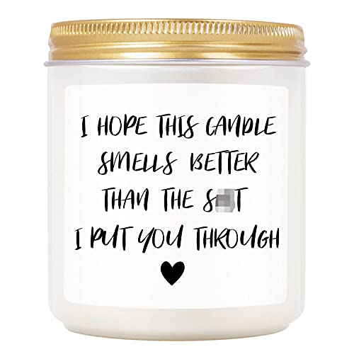TASRUIMI Lavender Scented Candles - Funny Candles Gifts for Women,...