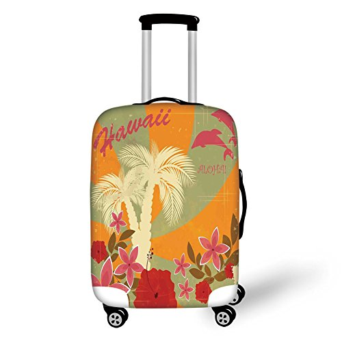 Travel Luggage Cover Suitcase Protector,Moroccan Traditional Featured Symbolic B