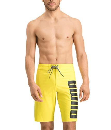 PUMA Men's Long Swimming Trunks Long Board Swim Shorts, Größe Bekleidung:L, Farben:Yellow