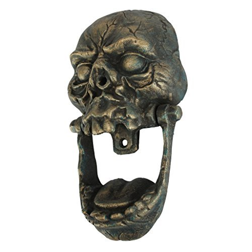 Design Toscano Knock-Jaw Skull Cast Iron Door Knocker by Design Toscano