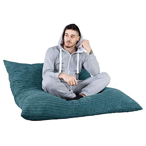 Lounge Pug®, Riesen Sitzsack XXL, Sitzkissen, Cord Türkis - 3