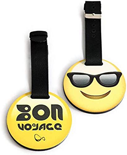 Emoji Portable Secure Travel Trolley Suitcase Luggage Handbag Tag Label for Bags Backpacks Fully Flexible Strap Prevent Breaking Cool