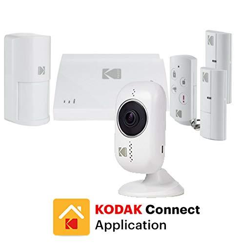 KODAK INITIAL Kit Alarma Hogar con Sensor de Movimientos y Sirena - Cámara de Vigilancia Full HD 1080p Incluida