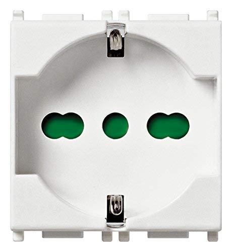 Vimar Presa 2Pcon T 16A Universale, Bianco
