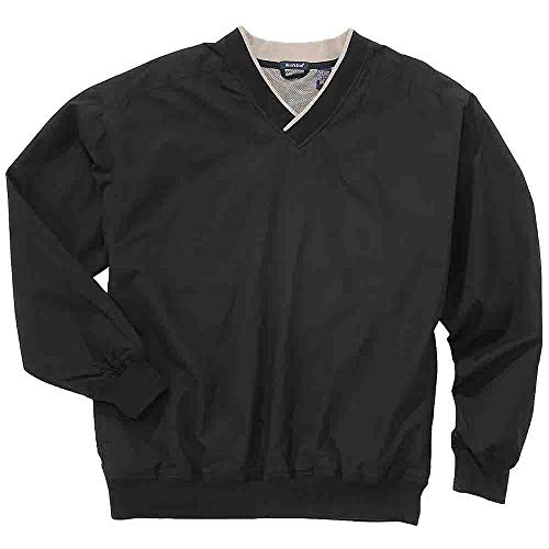 Rivers' End Mens Lined Microfiber Windshirt Athletic Outerwear Jacket, Black, XXL