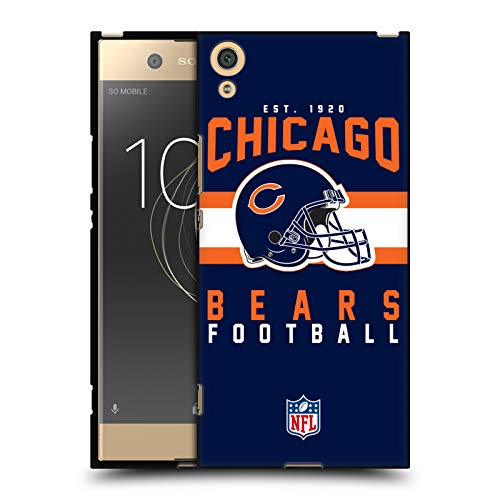 Head Hülle Designs Offiziell Zugelassen NFL Helm-Buchdruckerkunst Chicago Bears Graphics Schwarze Soft Gel Handyhülle Hülle Huelle kompatibel mit Sony Xperia XA1 Ultra/Dual