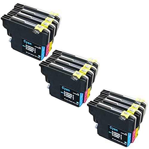 SXCD LC975 LC985 Cartuchos De Tinta para El Hermano,reemplazo para El Hermano DCP-J125 J315W J515W MFC-J265W J410 J415W J220 Impresora De Inyección Rendimiento Compatible Combination x 3