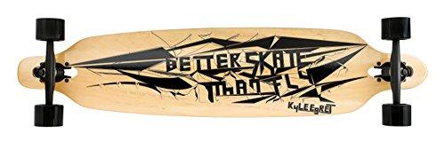Ridge Unisex-Adult 41 Zoll Exklusive Kyle Egret Kollaboration Serie Twintip Longboard Komplettboard, Natural