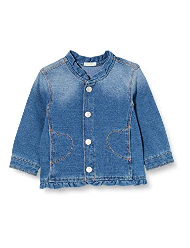 United Colors of Benetton 2BAY5358E Cappotto, Blu (Blu Denim 901), 74 Bimba