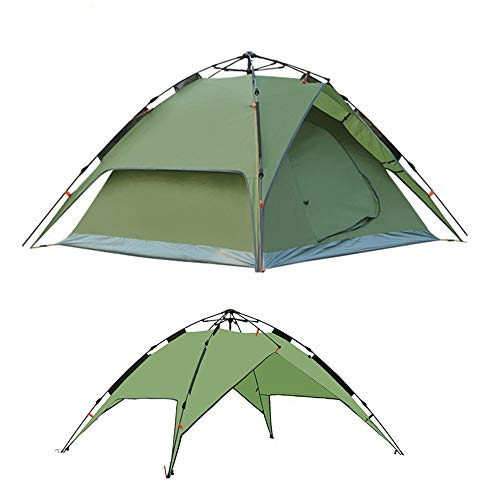 Pop-Up Anti-Mosquito Waterproof Tent 3-4 People Rain Camping Wild Double-Layer Camping Automatically Open Quickly, Suitable For, Beach,Hiking, Lawn, Camping