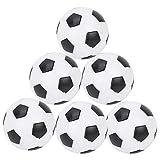 VGEBY1 Reemplazo del balón de fútbol de la Mesa, Mini Accesorio de Mesa del Juego del futbolín de la Bola del Foosball(6 unids)