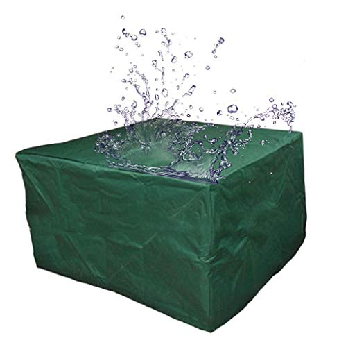 WJHCDDA - Fundas para muebles de jardín (impermeable), diseño de cubos, tela Oxford, protección para exteriores, 4 tamaños (color: verde militar, tamaño: 135 x 135 x 75 cm)