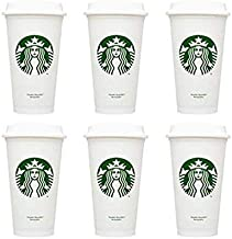 STARBUCKS Reusable Recyclable Grande 16 OZ Plastic Travel To Go Coffee Cups BPA Free (6pcs)