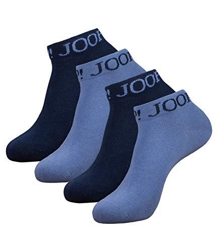 Joop! Herren Socken Logo Quarter Kurzsocken 9000065-1 4 Paar, Farbe:Blau, Größe:43-46, Menge:4 Paar (2x 2er Pack), Artikel:-6039 blue horizon