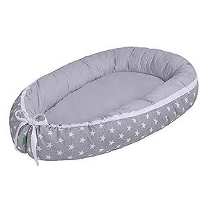 Lulando Capazo de bebé multifuncional Lulando (80 x 45 cm) gris White Stars/Grey 1 Unidad 500 g