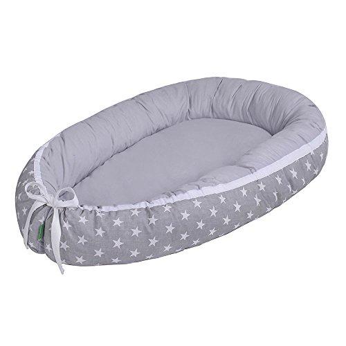 Capazo de bebé multifuncional Lulando (80x 45cm) gris White Stars/Grey