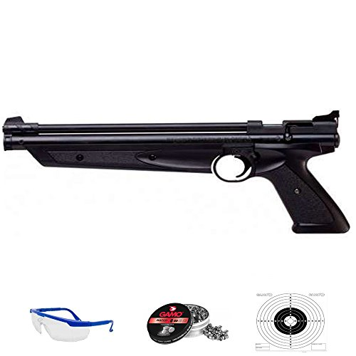 American Clasic Pack Pistola de Aire comprimido Crosman Arma de CO2 y balines (perdigones de Plomo) [Calibre 4.5mm y 5,5mm] <3,5J (4,5mm)