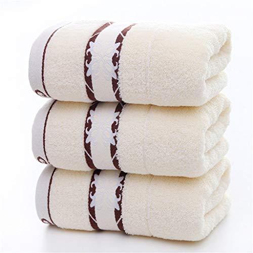 ZHUSHI-MJ Toallas de Mano de algodón de Lavado Suave Toallitas para el hogar Toalla Absorbente de baño Toallas de baño de 75 * 35 CM Hilo para Tejer Lote Toalla de Pelo (Color : C)