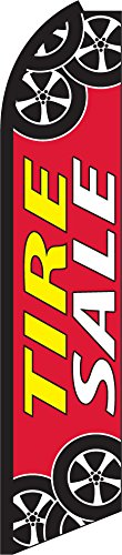Tire Sale Swooper Feather Flag Only