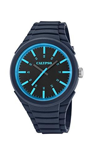 Calypso Herren Datum klassisch Quarz Uhr mit Plastik Armband K5725/6