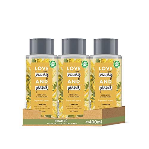 Pack de 3 Champú de Aceite de Coco e Ylang Ylang Vegano