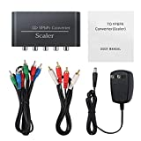 HDMI Compatibile 1080P Component Video YPbPr3RCA RGB Converter Scaler R/L Nero