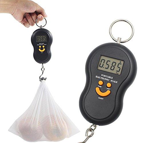 Báscula Digital de Precisión, Rango de Pesaje de 20g a 45 kg, Balanza Portátil para Maletas