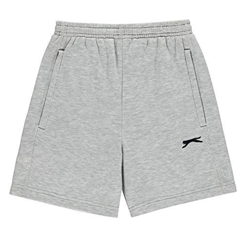 Slazenger Niños Fleece Pantalones Cortos Gris Marga 9-10 años