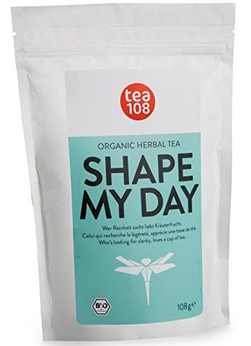 SHAPE MY DAY - Slim Body Tea ohne Bitterstoffe als ideale Ergänzung deiner - Detox Tee, Diät und Reinigungskur - 108 Tassen Bio Kräutertee aus Hamburg. (mit kleinem Druckfehler...