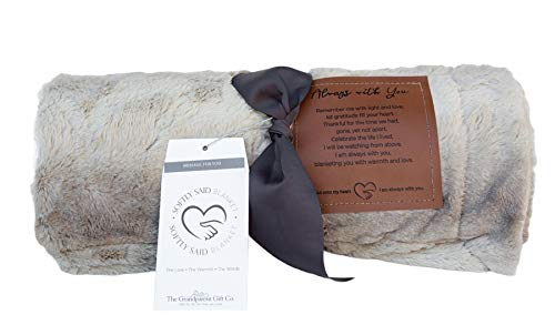 Always with You Memorial Blanket- Thoughtful Sympathy Gift to Remember Lost Loved Ones (Soft Gray - Non Personalized)