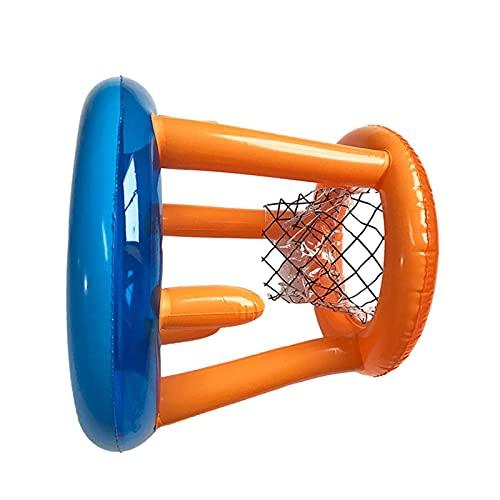 Augneveres Aro De Baloncesto Inflable para Piscina, Juguete De Baloncesto para Piscina con Anillo De Lanzamiento, Juego De Flotador para Piscina, Juego De Lanzamiento para Piscina Fiesta En Realistic