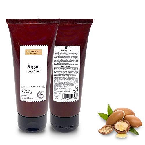 Crema para Pies Muy Secos - Crema Natural con Manteca de Karité Orgánica - Crema Reparadora de Pies de Karité con Aceite de Argán - Cuidado de Pies Masaje Relajante