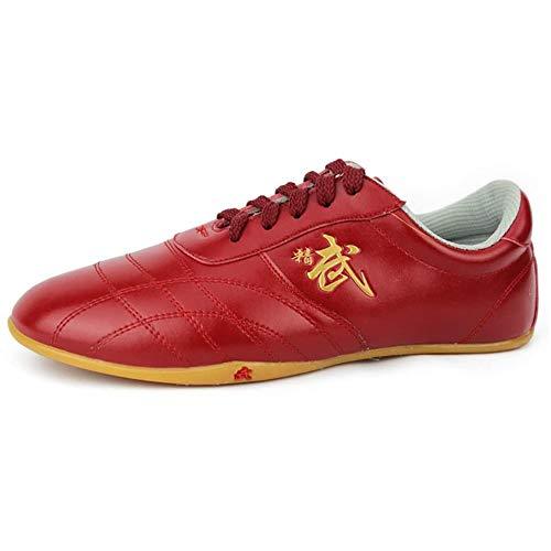 Meng Zapatos De Taekwondo, Zapatillas De Deporte De Artes Marciales For Niños Zapatos Deportivos Livianos For Entrenamiento De Karate Kung Fu Tai Chi De Boxeo (Color : Red, Size : 31)