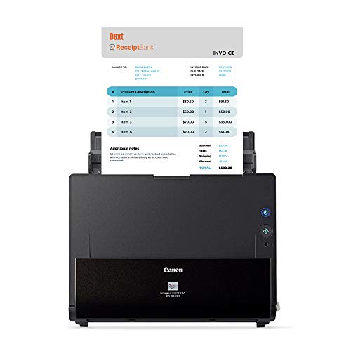 Canon imageFORMULA DR-C225 II Scanner Small Business Edition Powered by Receipt Bank, Auto Data Entry, Supports QuickBooks and Other Major Accounting and Bookkeeping Software