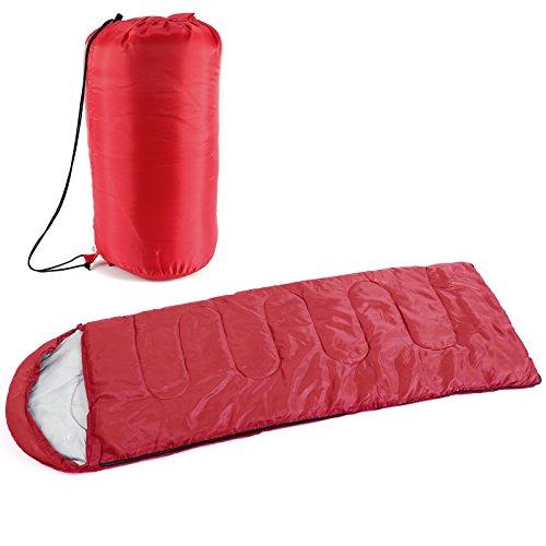 Sac de couchage Enveloppe 3-5 saison Sports de plein air Randonnée Camping avec sac de transport et capuche avec cordon de serrage et collier chaud et Facile à transporter