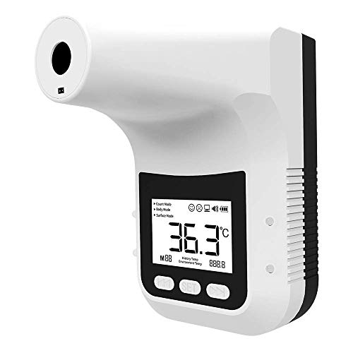 Spy-MAX Wall Mounted Non-Contact Infrared Temperature Measurement K3 Pro Forehead Thermometer with Fever Alarm. Hands Free Non Contact - Reopen Safely Office Home Supermarket School Community Entrance