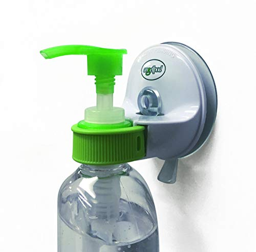The Original AngellPod - Repositionable, Place Anywhere Wall Mounted Hand Sanitizer Holder, Pump Bottle Holder. Soap dispensor Holder. Suction Cup REPOSITIONS Self-Adhesive Sticks Anywhere!