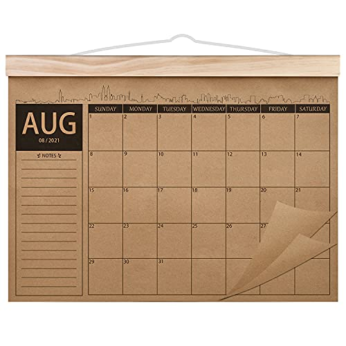 2021-2023 Calendar - 18 Monthly Academic Desk or Wall Calendar Planner, Thick Kraft Paper Perfect for Organizing & Planning, August 2021 - January 2023, 12.2'x16.5' - Norjews