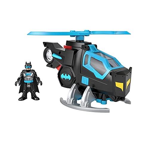 Fisher-Price Imaginext GYC72 - DC Super Friends Batcopter, 1 Spielzeug-Helikopter mit 1 Batman-Figur, für Kinder von 3 bis 8 Jahren